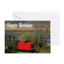 Caboose Birthday Card
