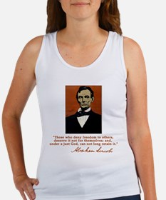 Abe Lincoln FREEDOM Quote Women's Tank Top