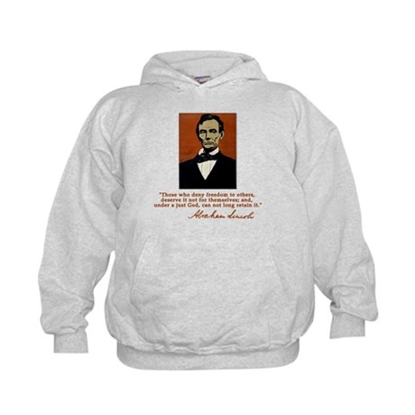 Abe Lincoln FREEDOM Quote Kids Hoodie