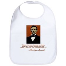 Abe Lincoln FREEDOM Quote Bib