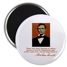 Abe Lincoln FREEDOM Quote Magnet