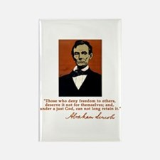 Abe Lincoln FREEDOM Quote Rectangle Magnet (10 pac