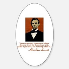 Abe Lincoln FREEDOM Quote Oval Decal