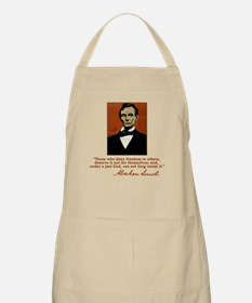Abe Lincoln FREEDOM Quote BBQ Apron