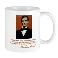 Abe Lincoln FREEDOM Quote Mug