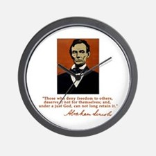 Abe Lincoln FREEDOM Quote Wall Clock