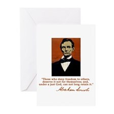 Abe Lincoln FREEDOM Quote Greeting Cards (Pk of 10