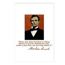 Abe Lincoln FREEDOM Quote Postcards (Package of 8)