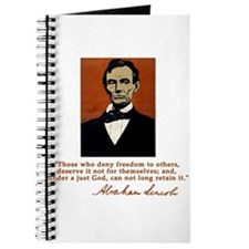 Abe Lincoln FREEDOM Quote Journal