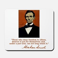 Abe Lincoln FREEDOM Quote Mousepad