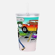 Compact Car Cartoon 79 Acrylic Double-wall Tumbler
