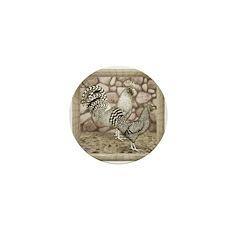 California Gray Chickens Mini Button (10 pack)