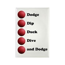 DODGEBALL Rectangle Magnet