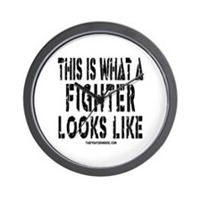 This is what a FIGHTER looks Wall Clock