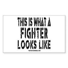 This is what a FIGHTER looks Rectangle Decal