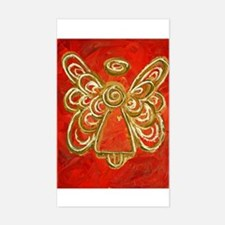 Red Angel Rectangle Decal