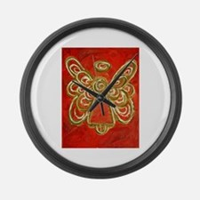 Red Angel Large Wall Clock
