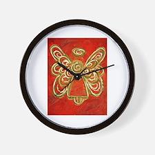 Red Angel Wall Clock