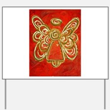 Red Angel Yard Sign