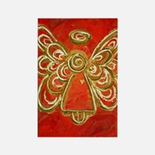 Red Angel Rectangle Magnet