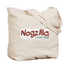 Nogzilla - Eggnog Lover Tote Bag
