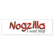 Nogzilla - Eggnog Lover Bumper Bumper Sticker