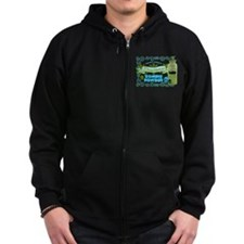 Resurrection Zombie Powder Zipped Hoodie