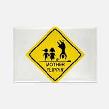 Mother Flippin' Yield Sign Rectangle Magnet