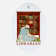 LIBRARIAN by Coles Phillips Ornament (Oval)