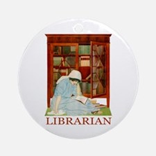 LIBRARIAN by Coles Phillips Ornament (Round)