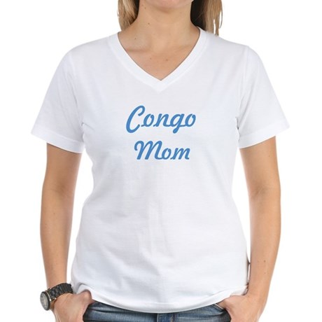 Congo mom Women's V-Neck T-Shirt