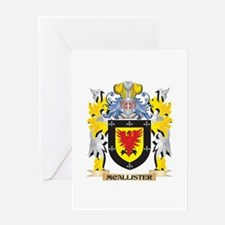 Mcallister Coat of Arms - Family Cr Greeting Cards