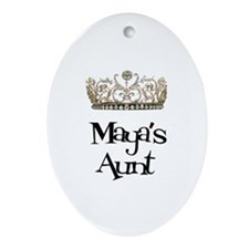 Maya's Aunt Oval Ornament