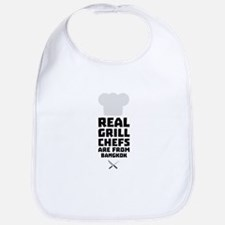 Real Grill Chefs are from Bangkok C47nz Baby Bib