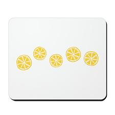 Retro Citrus Pattern Mousepad