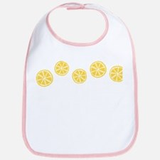 Retro Citrus Pattern Bib