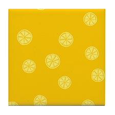 Retro Citrus Pattern Tile Coaster