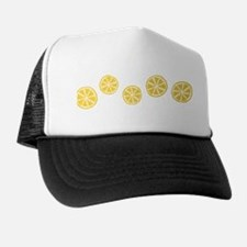 Retro Citrus Pattern Trucker Hat