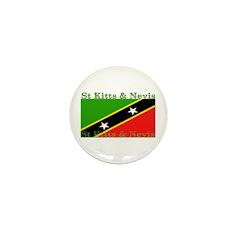 St Kitts & Nevis Mini Button (100 pack)
