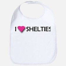 I LUV SHELTIES Bib