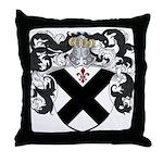 DeBeers Family Crest Throw Pillow