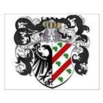 DeBoer Family Crest Small Poster