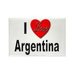 I Love Argentina Rectangle Magnet (10 pack)