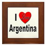 I Love Argentina Framed Tile