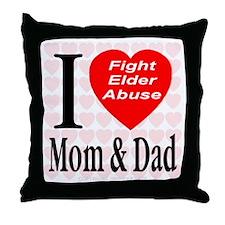 Fight Elder Abuse Throw Pillow