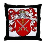 DeGroot Family Crest Throw Pillow
