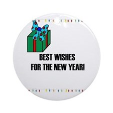 BEST WISHES FOR THE NEW YEAR Ornament (Round)