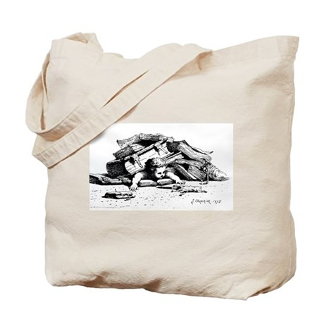 Flattened cherub Tote Bag