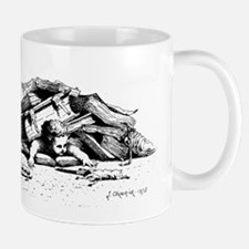 Flattened cherub Mug