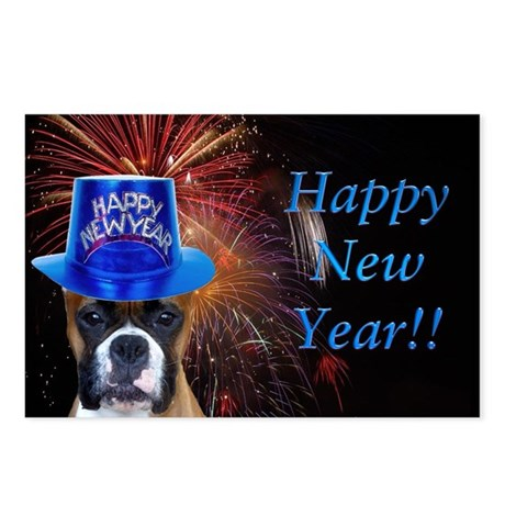 New Years Boxer Postcards (Package of 8)
